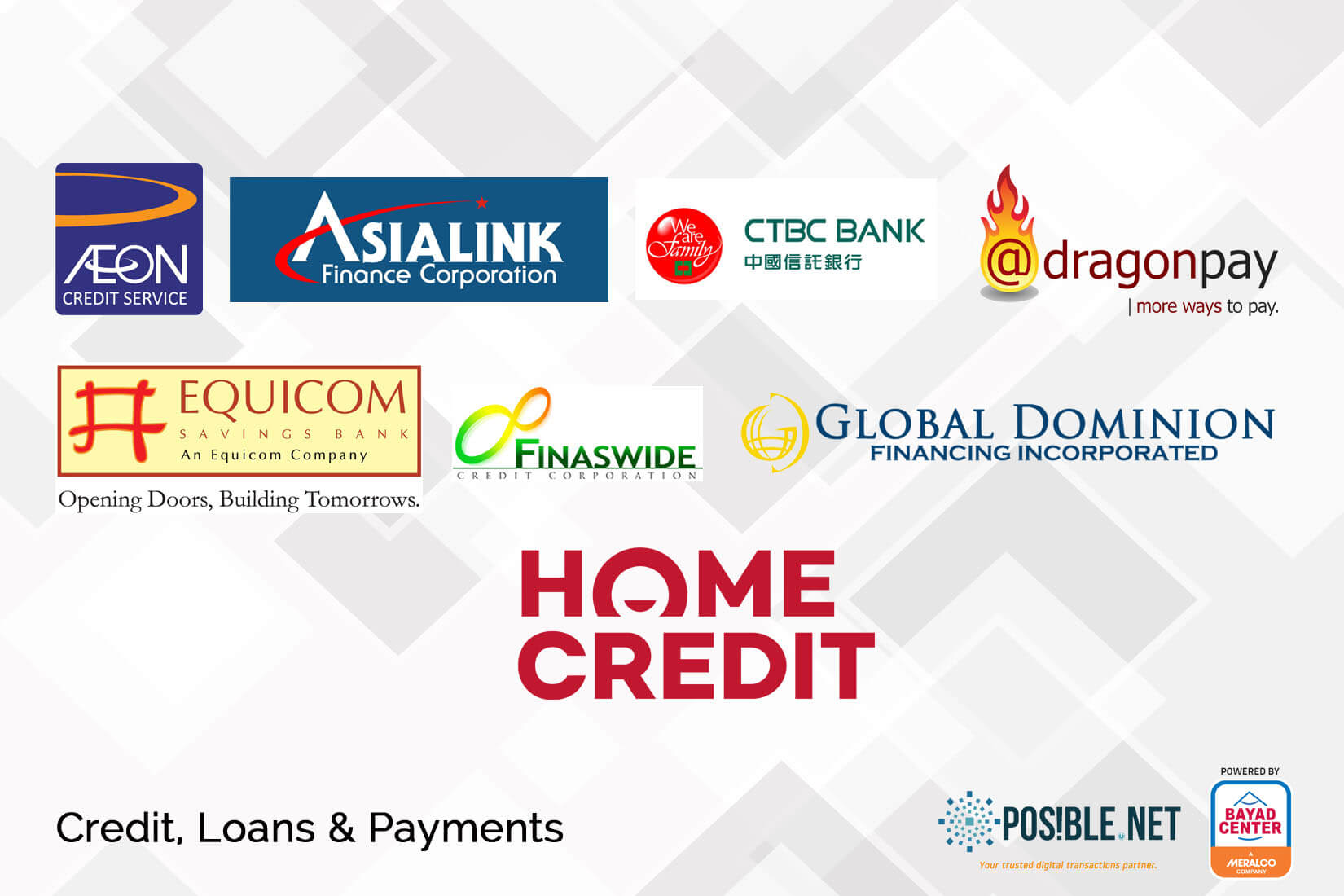 bills payment credit loan payments