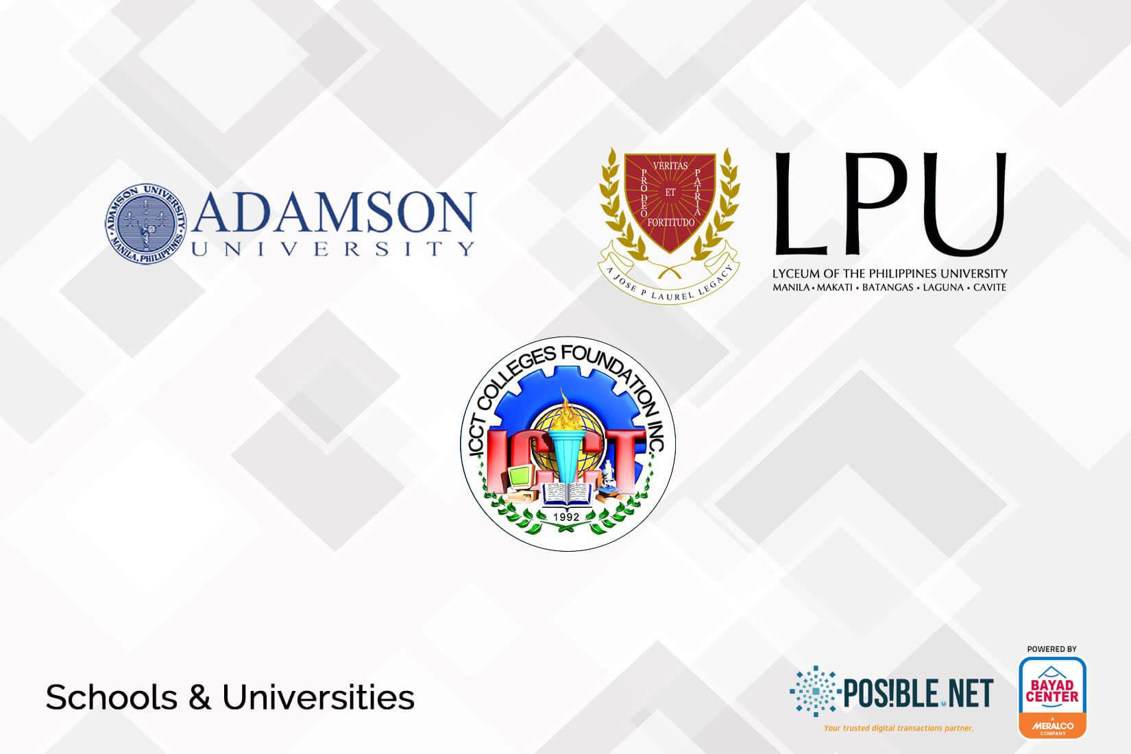 bills payment schools universities